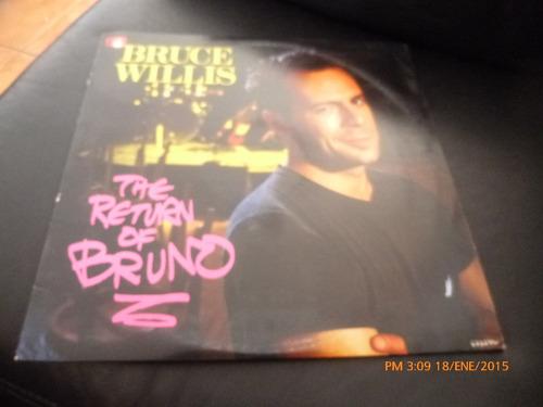 vinilo lp 12 bruce willis -.the return of bruno (u972