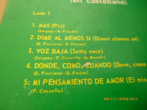 vinilo lp 12 ornella vanoni - -mas en castellano (u964