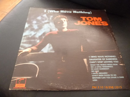 vinilo lp 12 tom jones -who have nothing (1136