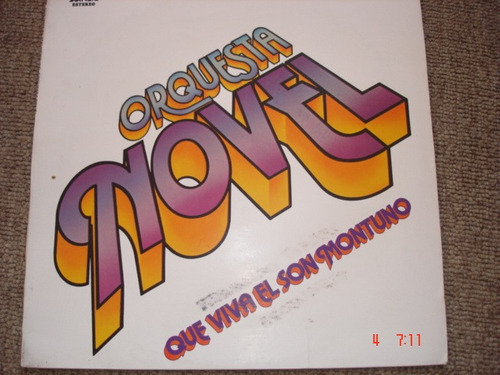vinilo lp acetato orquesta novel  salsa