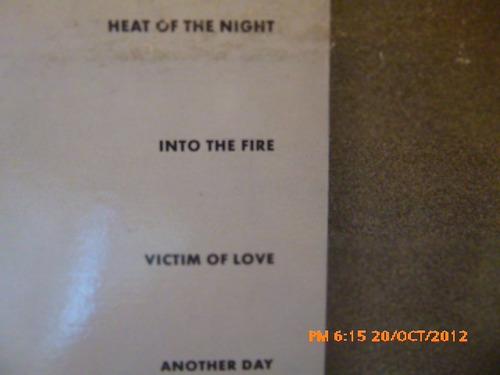 vinilo lp bryan adams   into the fire (u267