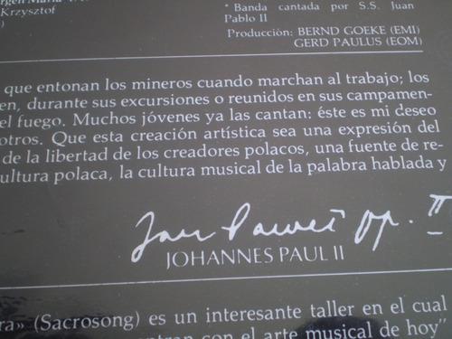 vinilo  lp canciones del papa juan pablo ii  polonia (u21