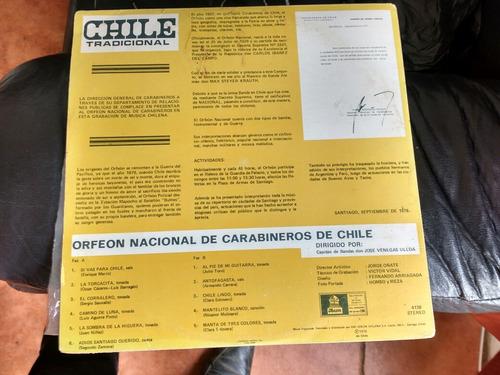 vinilo lp chile tradiciónal orfeon de carabineros (u34