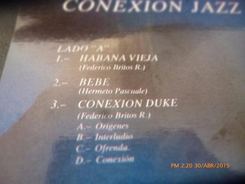 vinilo lp conexion jazz -federico britos ruiz(u482