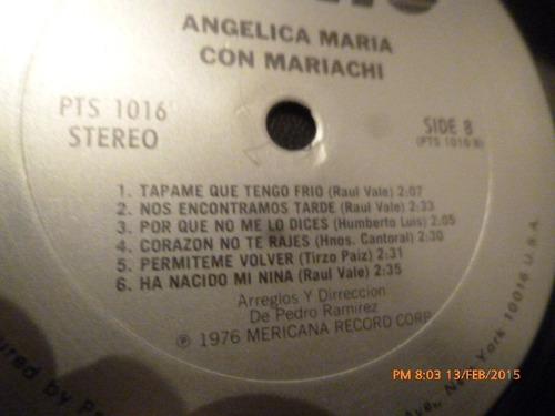 vinilo lp de angelica maria -- con mariachi (1205