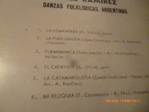 vinilo lp de ariel ramirez --danzas folkloricas argent (u998