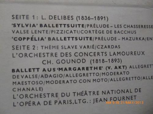 vinilo lp de  ballettmusic   musica para bail  ballett (845