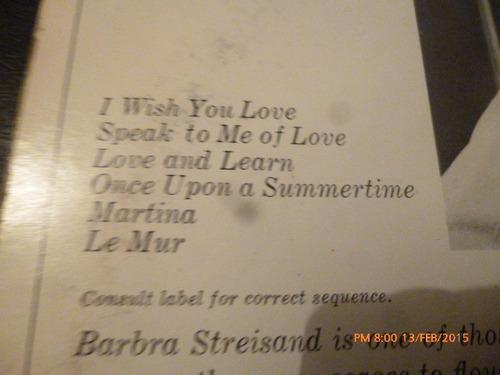 vinilo lp de barbara streisand -- je'm appelle barbara (1194
