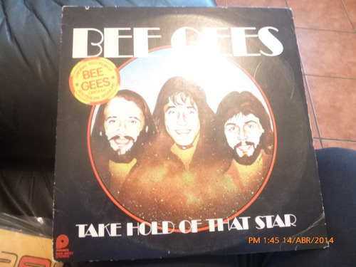vinilo lp de bee gees  - take hold of that star(u790