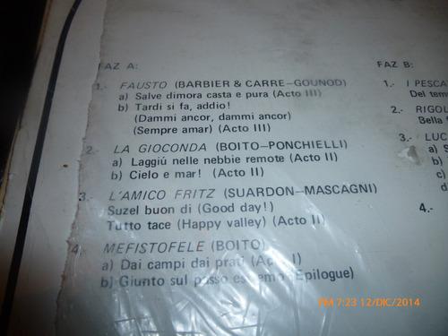 vinilo lp de beniamino gigli -- grabaciones historicas (733