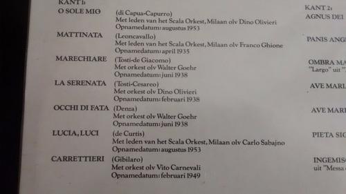 vinilo lp de beniamino gigli -  zingt (1443