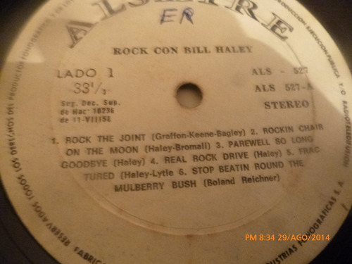 vinilo lp de bill haley  -- rock con (1051