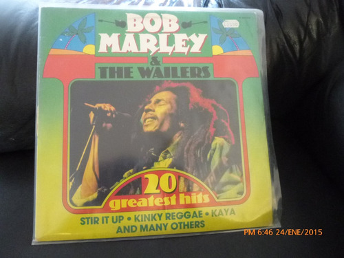 vinilo lp de  bob marley  20  greatest hits (1144)