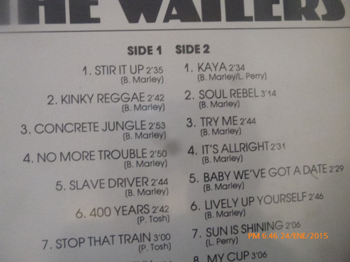 vinilo lp de  bob marley  20  greatest hits (u962