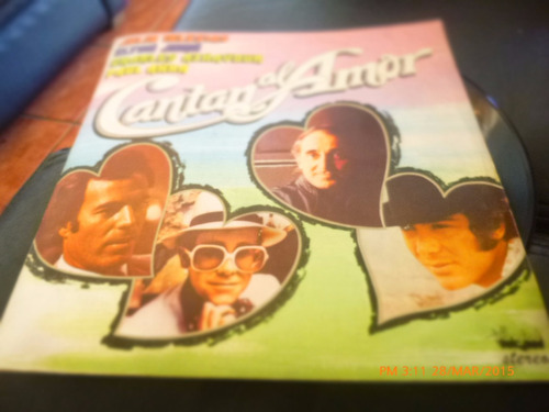 vinilo lp de cantan al amor -aznavour -iglesias-anka (u1281