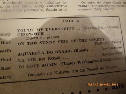 vinilo lp de carmen cavallaro   --- melodia imortal (u837