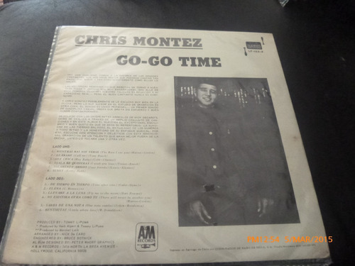 vinilo lp  de chris montez  -- go go -time -- (1226