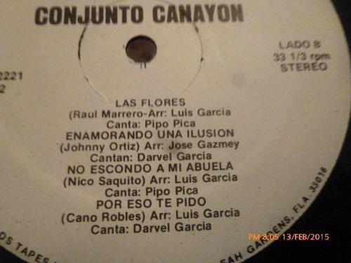 vinilo lp de conjunto canayon -- las flores (u993