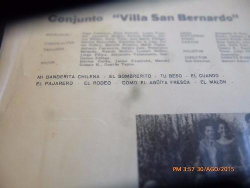 vinilo lp de conjunto villa san bernardo (1411