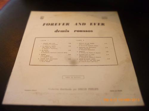 vinilo lp  de demis roussos - forever and ever (1334)