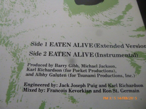 vinilo lp de diana ross  -- eaten alive (322