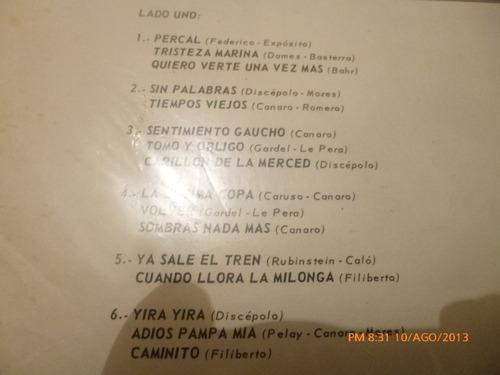 vinilo lp de el tio cirilo y su conjunto tangueando s (u651