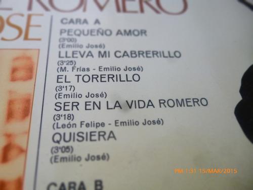 vinilo lp de emilio jose -alma de romero (u1137