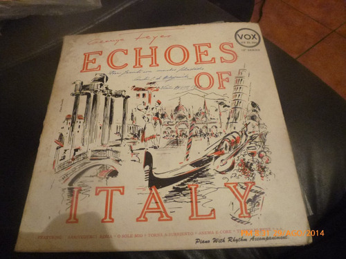 vinilo lp de george feyers  -- echoes of italy (1073