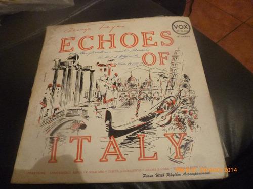 vinilo lp de george feyers  -- echoes of italy (u930