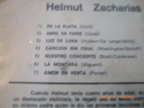 vinilo lp de helmut zacharias --romanticamente tuya  (u1130