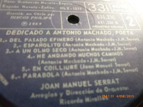 vinilo lp de joan manuel serrat --  dedicado a antonio (u906