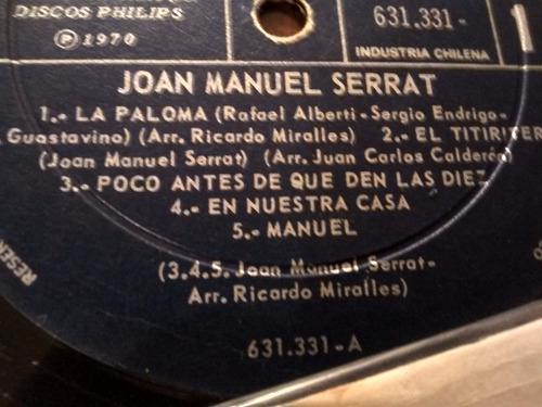 vinilo lp de joan manuel serrat - poema de amor (1495