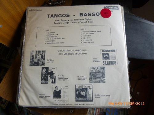 vinilo lp de jose basso   tangos basso(79)