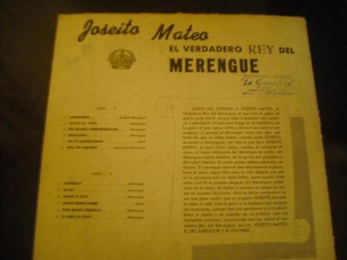 vinilo lp de  joseito meteo el rey del merengue (663)