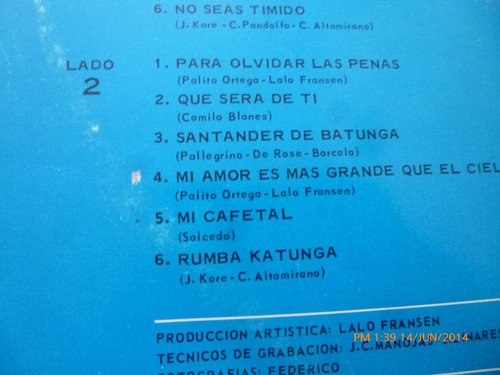 vinilo lp de katunga  el quinteto del año --el orangutan 112
