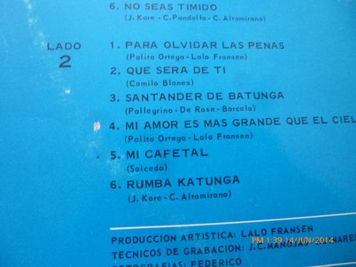 vinilo lp de katunga  el quinteto del año -el orangutan (u95
