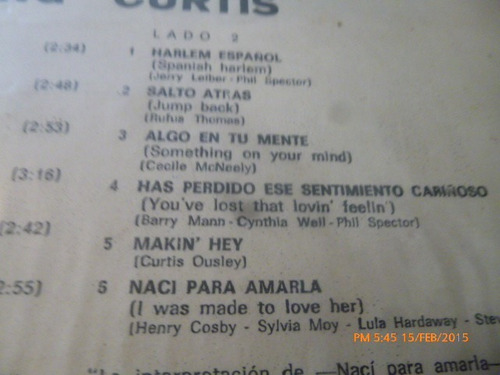 vinilo lp de king curtis -- the best( 1067