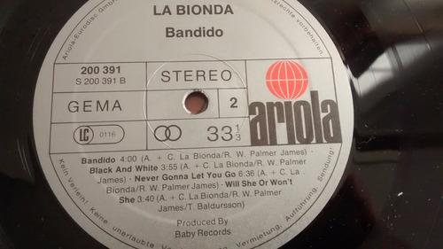 vinilo lp de la bionda   bandido  (u1314
