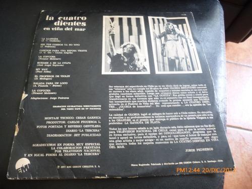 vinilo lp de la cuatro dientes en la quinta vergara 1977 (53