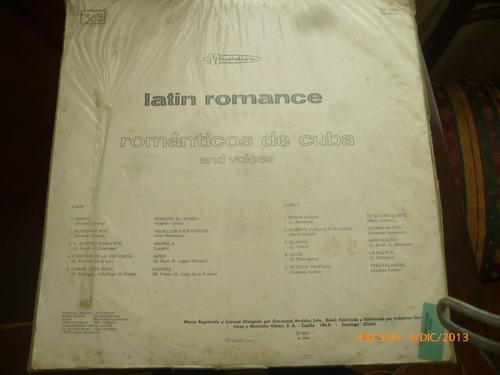 vinilo lp de latin romance -romanticos de cuba y coro(537
