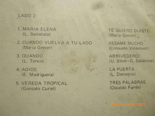 vinilo lp de latin romance -romanticos de cuba y coro(u420