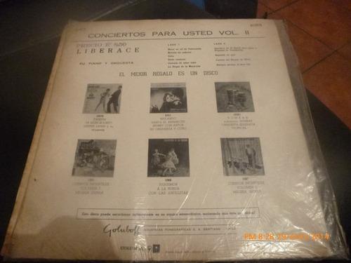 vinilo lp de liberace concierto s para ud vol 2 (1065