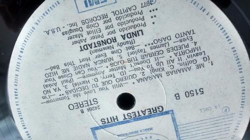 vinilo  lp de linda ronstadt - gret hits (lp108