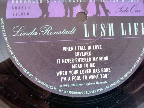vinilo lp de linda ronstadt  -lush life (1143