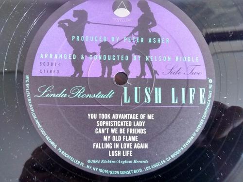 vinilo lp de linda ronstadt  -lush life (u963