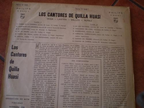vinilo lp de los cantores de quilla huasi (u635