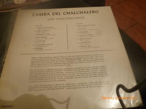 vinilo lp  de los charchaleros  --zamba del charc (u258