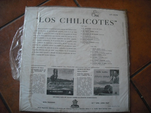 vinilo lp de los chilicotes (741)