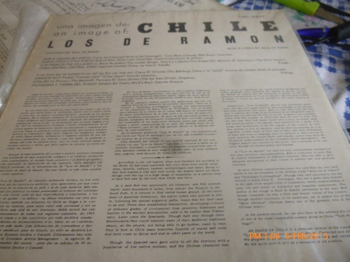 vinilo lp de los de ramon  -una imagen de chile  (850