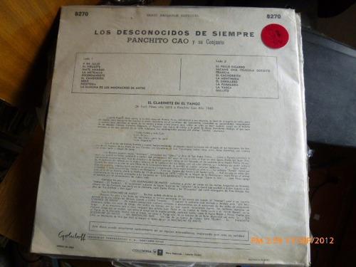 vinilo lp de los desconocidos de siempre panchito cao (u575